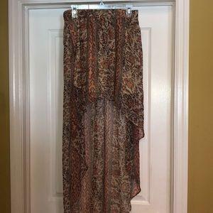 High Low Tribal Skirt